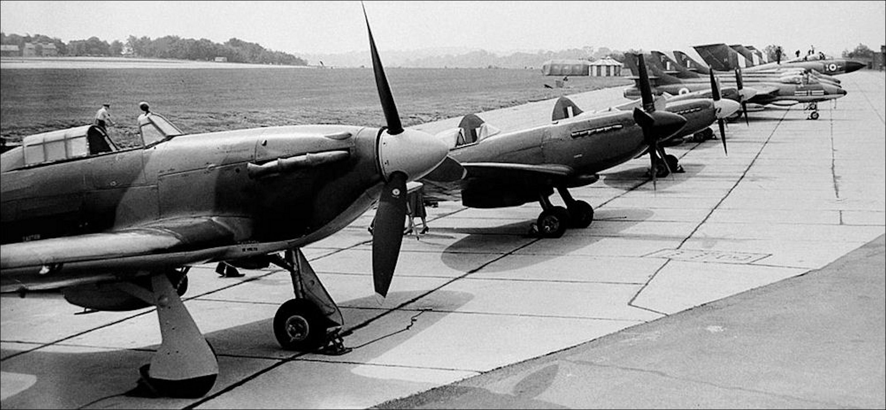 Photo of The birth of what we now know as the Battle of Britain Memorial Flight Biggin Hill 11th July 1957.